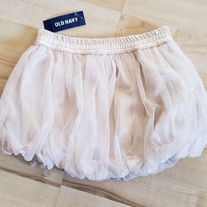 18-24mos Old Navy Gold Glittered poofy skirt